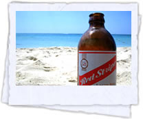 Beach and Red Stripe Beer